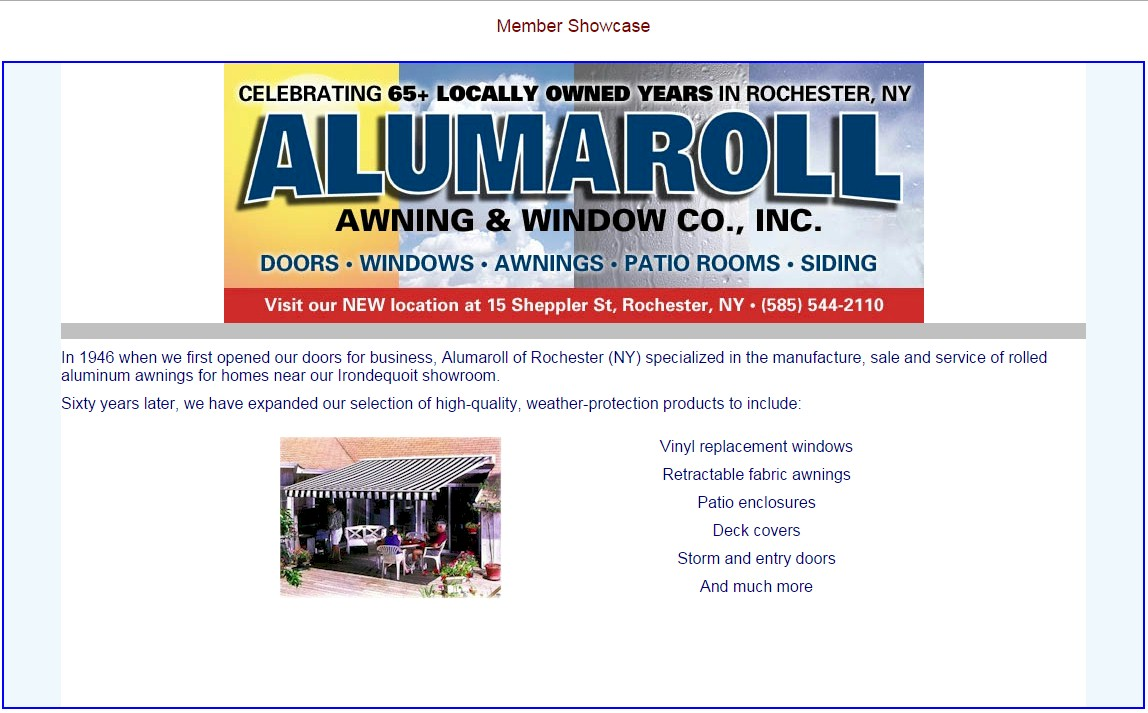 We Invite You To Visit Our Website For Additional Information About Products Services Rochester Alumaroll